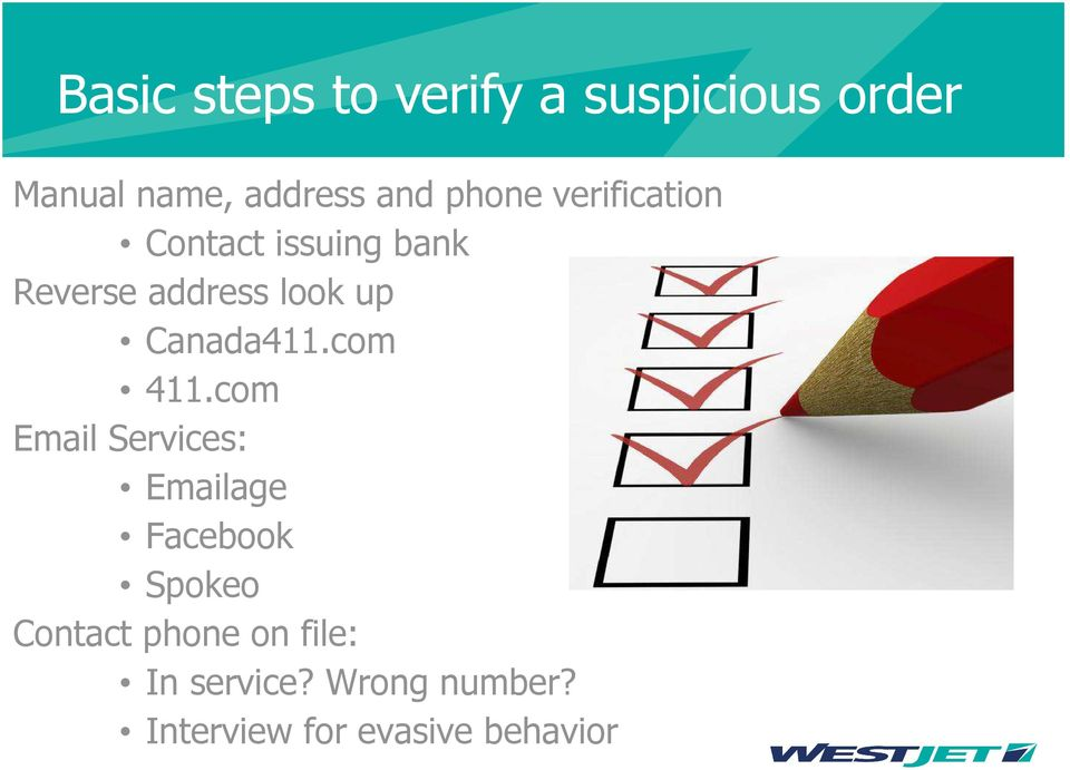 Fraud Awareness Session -WestJet Presented by Alexis