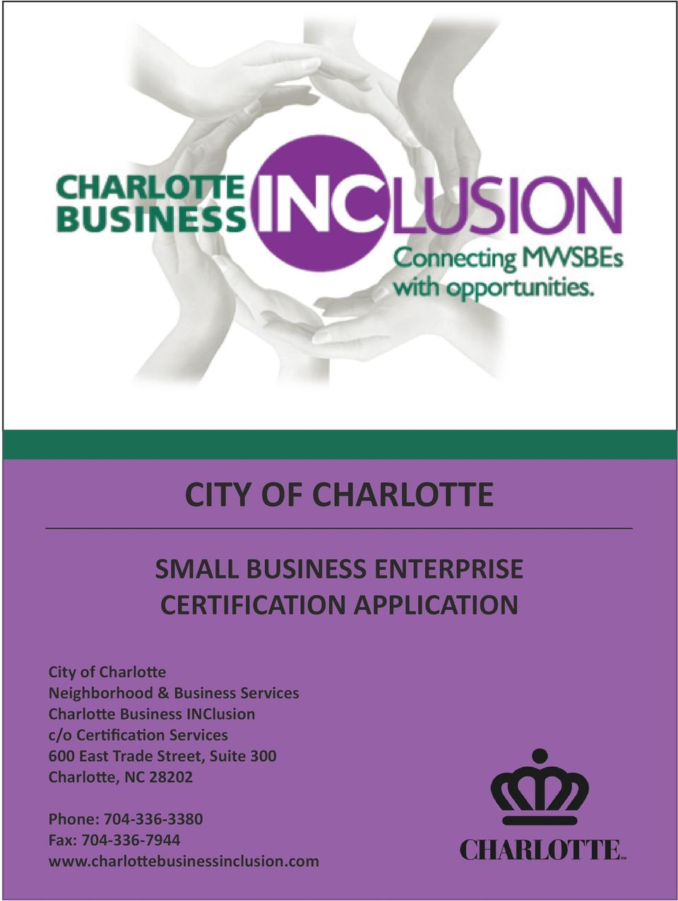 City Of Charlotte Small Business Enterprise Certification