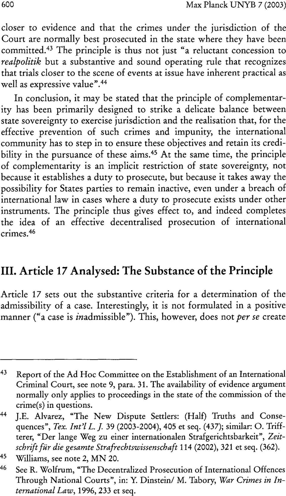 The Preamble of the Rome Statute of the International