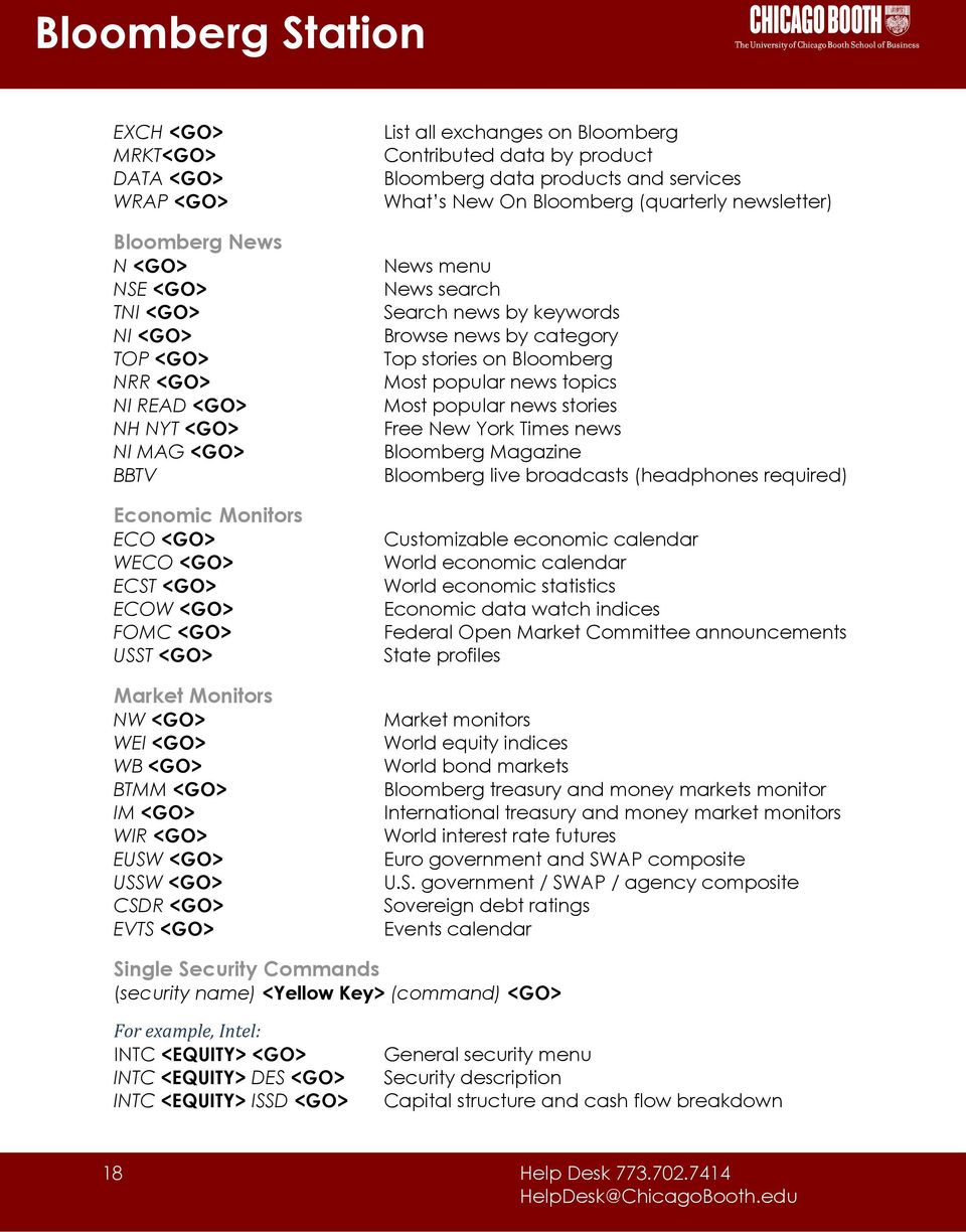 Bloomberg Station Reference Guide Pdf