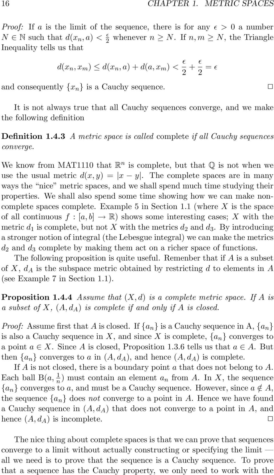 Metric Spaces Chapter 1 Pdf Free Download