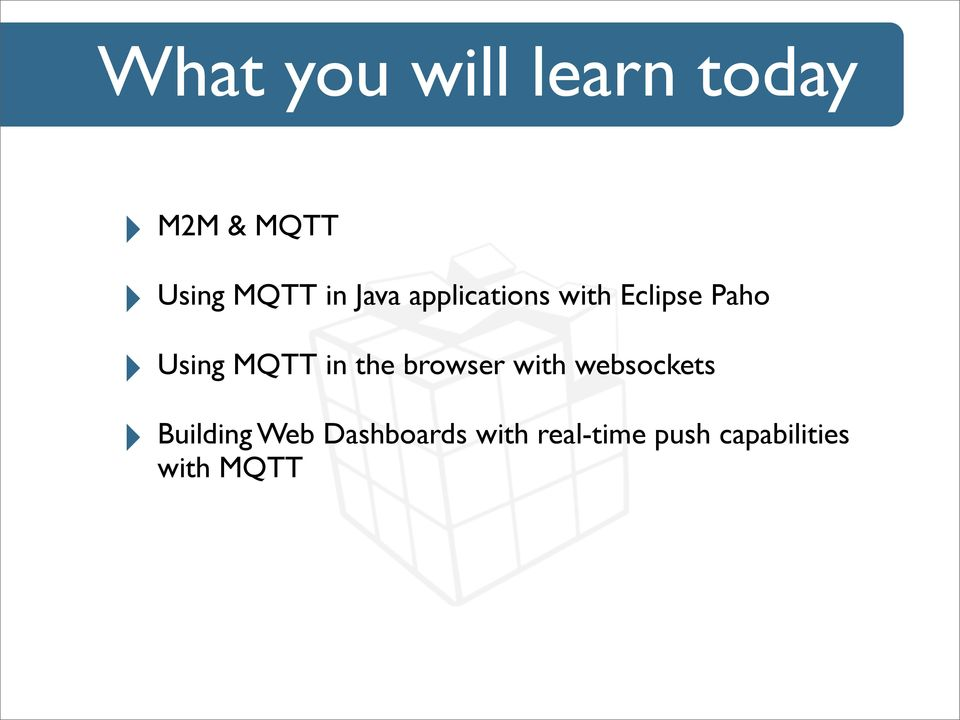 Bringing M2M to the web with Paho - PDF