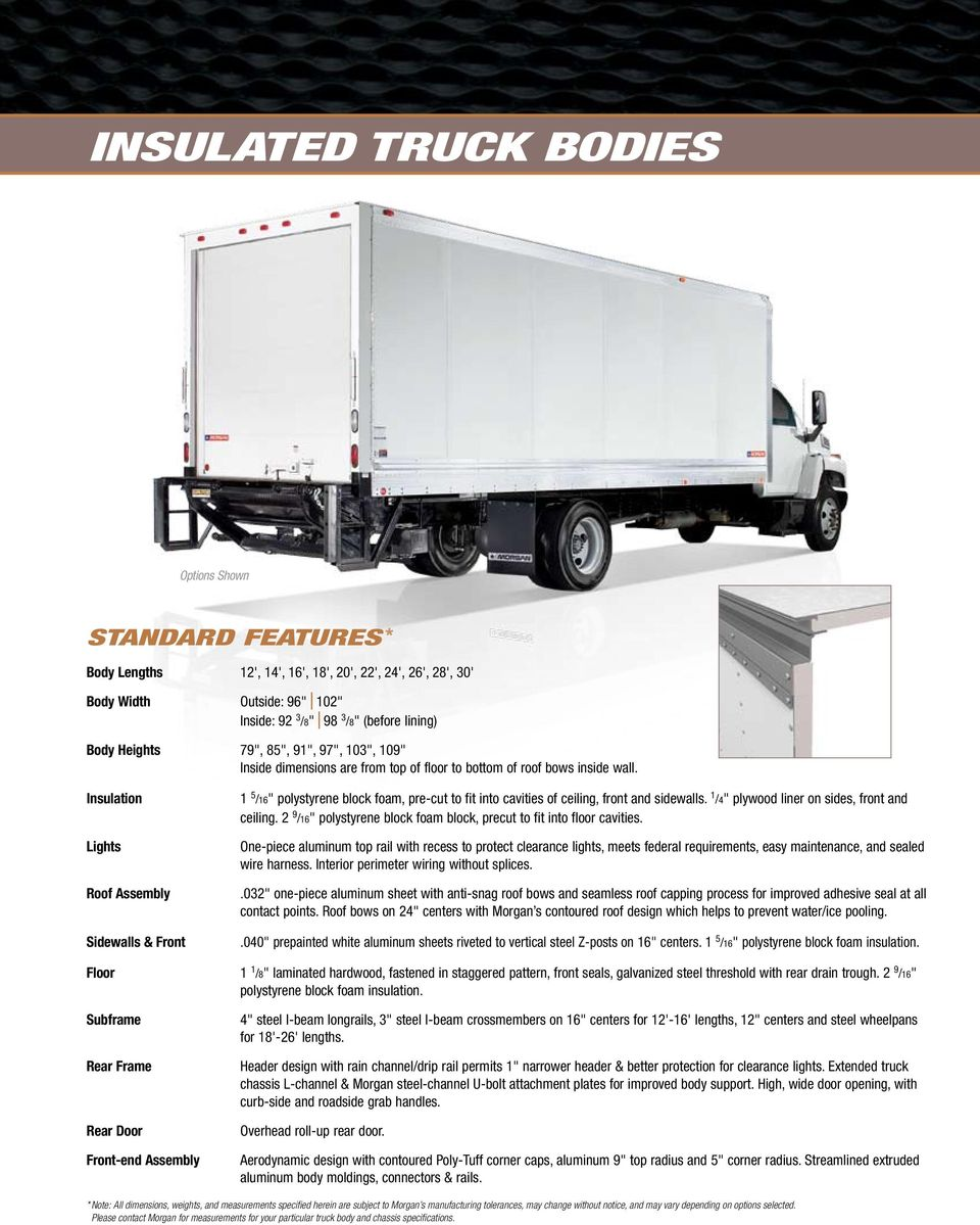 Dry Freight Truck Bodies Pdf Wiring Trailer Clearance Lights Insulation Roof Assembly Sidewalls Front 1 5 16 Polystyrene Block Foam