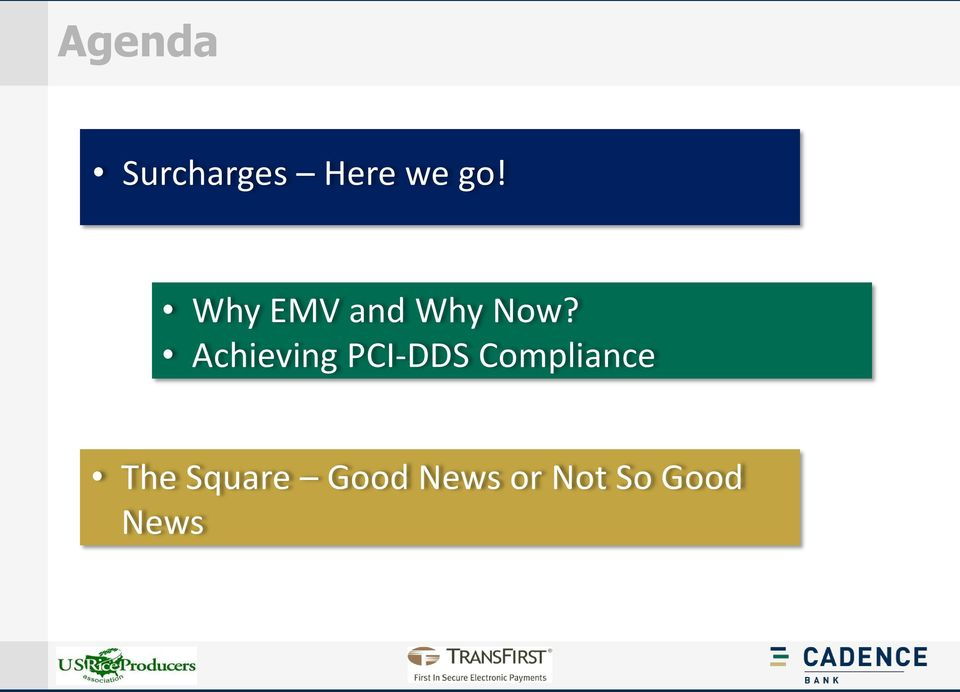 Achieving PCI-DDS Compliance