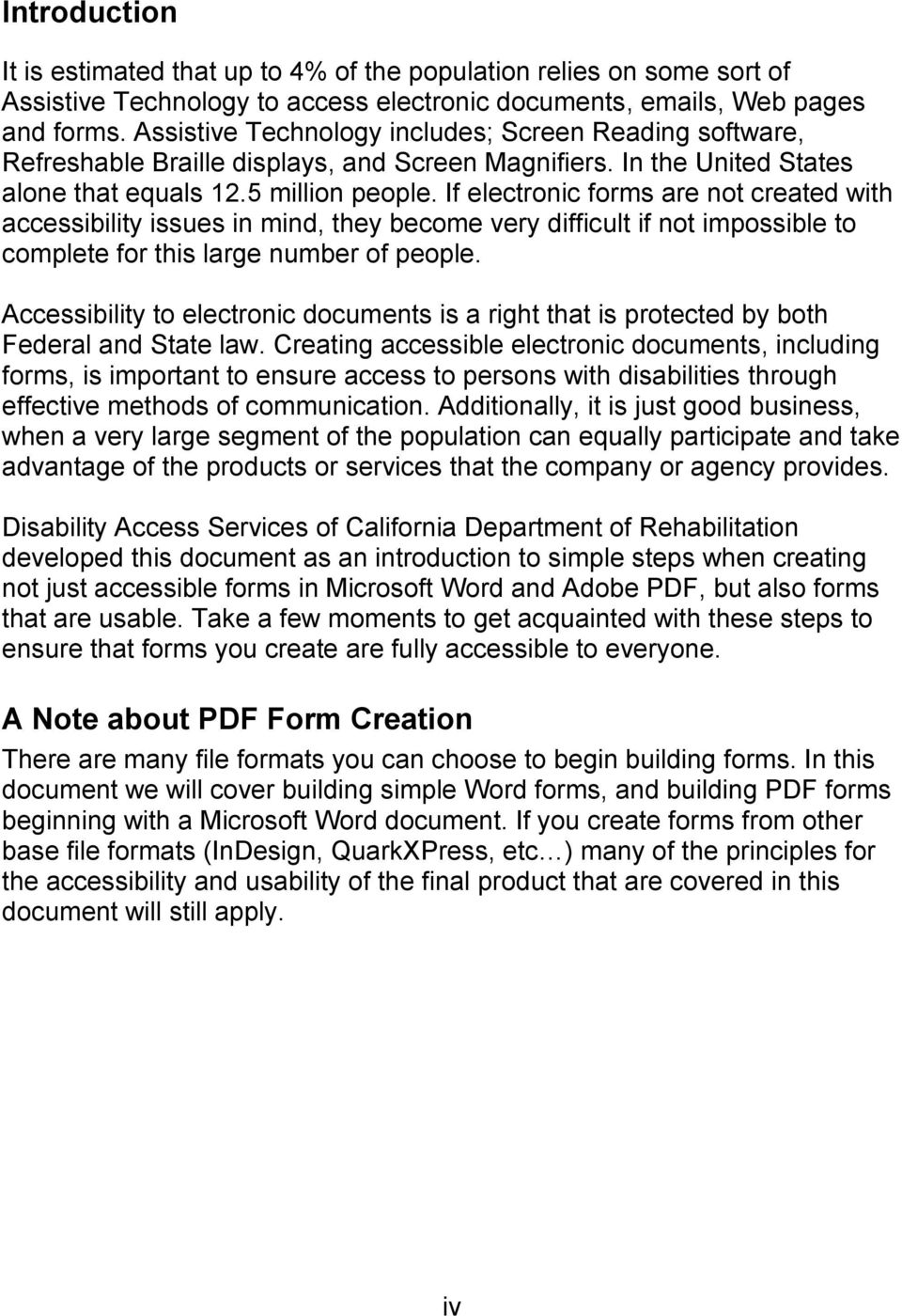 Creating Accessible Forms In Microsoft Word And Adobe Pdf Pdf