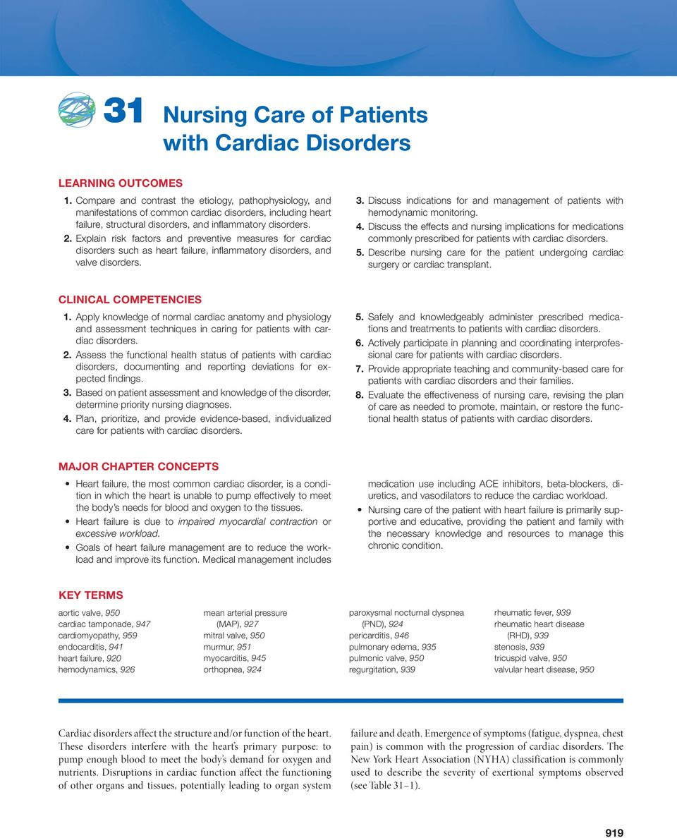 31 Nursing Care of Patients with Cardiac Disorders - PDF