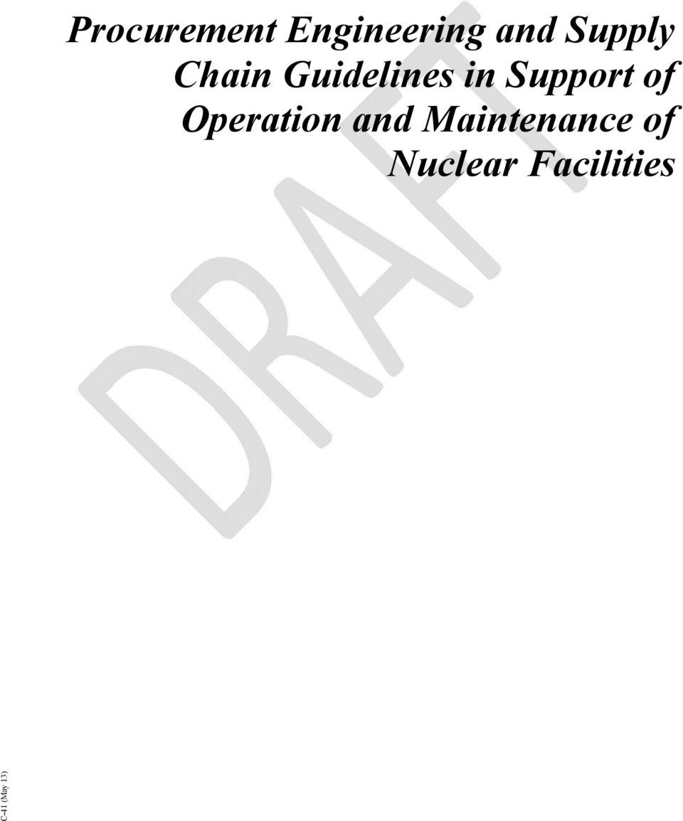 C-41 (May 13) Procurement Engineering and Supply Chain ...