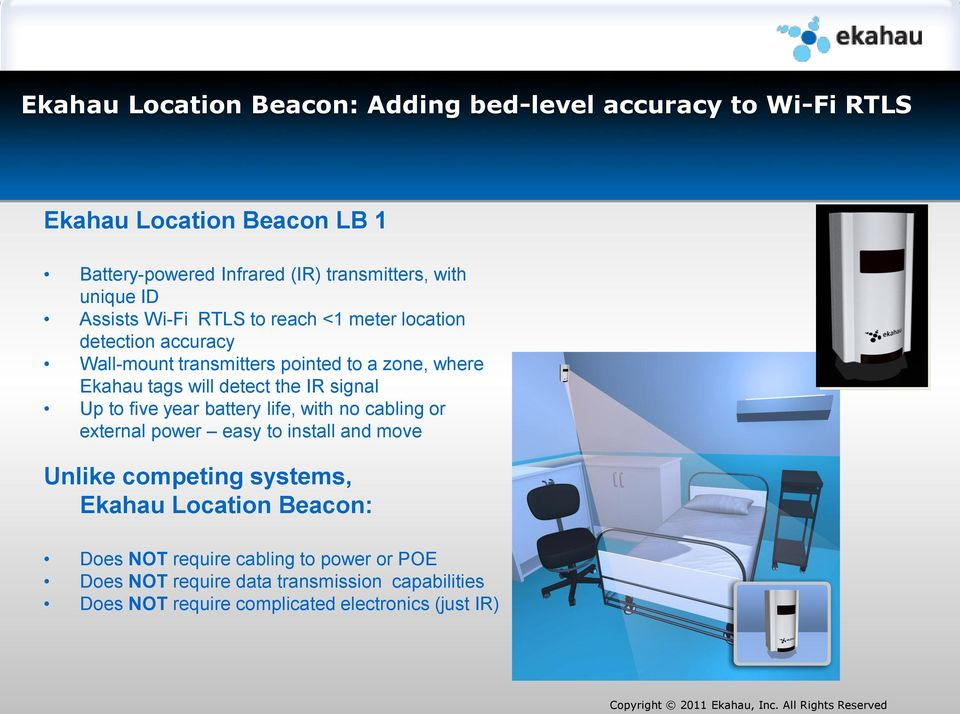 Ekahau RTLS WLAN based Real Time Location and Communication