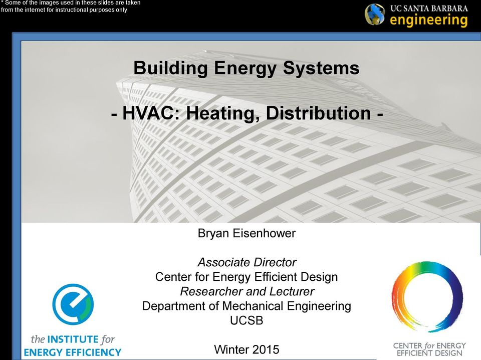 Distribution - Bryan Eisenhower Associate Director Center for Energy