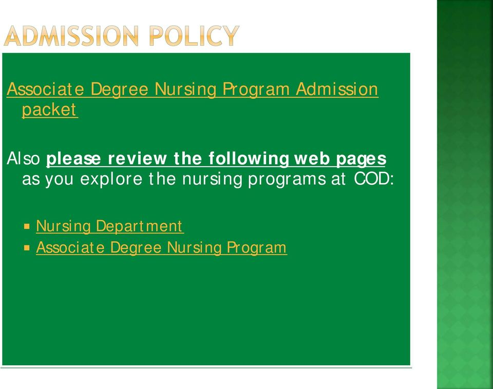 pages as you explore the nursing programs at