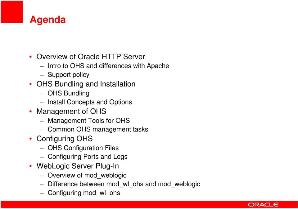 Insert Picture Here> Oracle HTTP Server 11gR1 - PDF