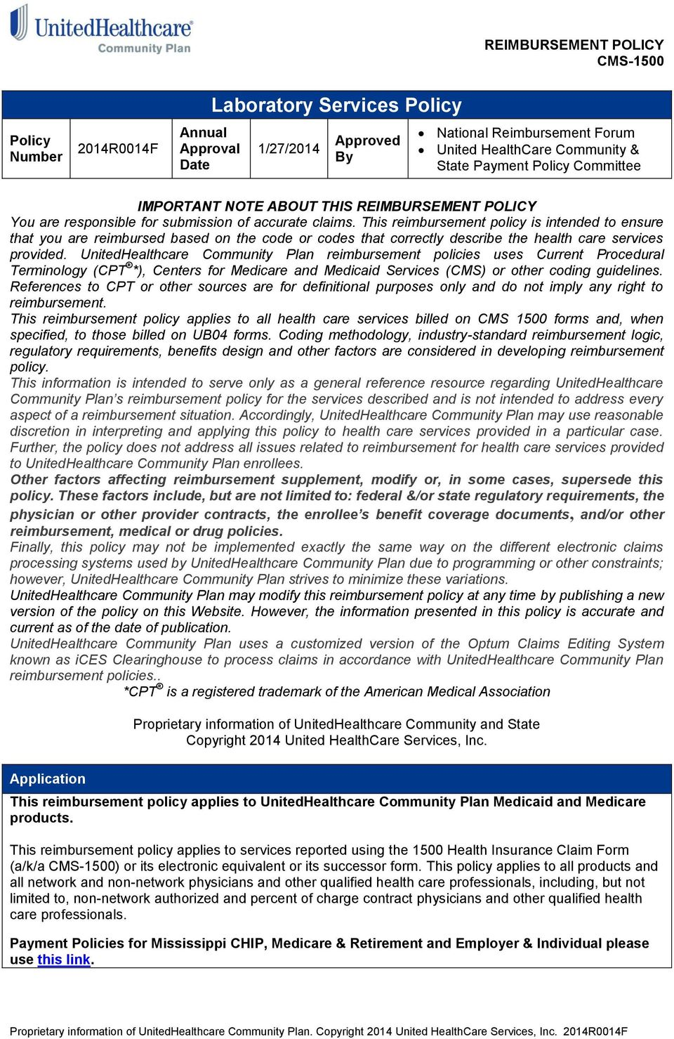 Laboratory Services Policy - PDF