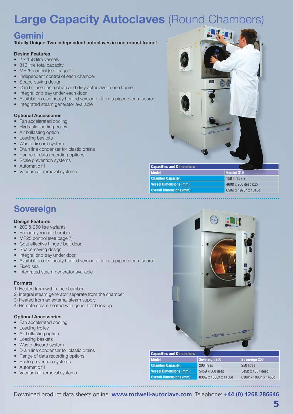 Rodwell. Autoclave Range. Rodwell Scientific Instruments: UK ...