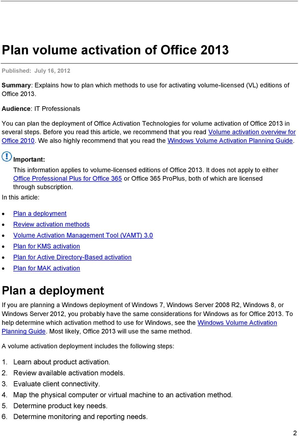 Deployment guide for Microsoft Office PDF
