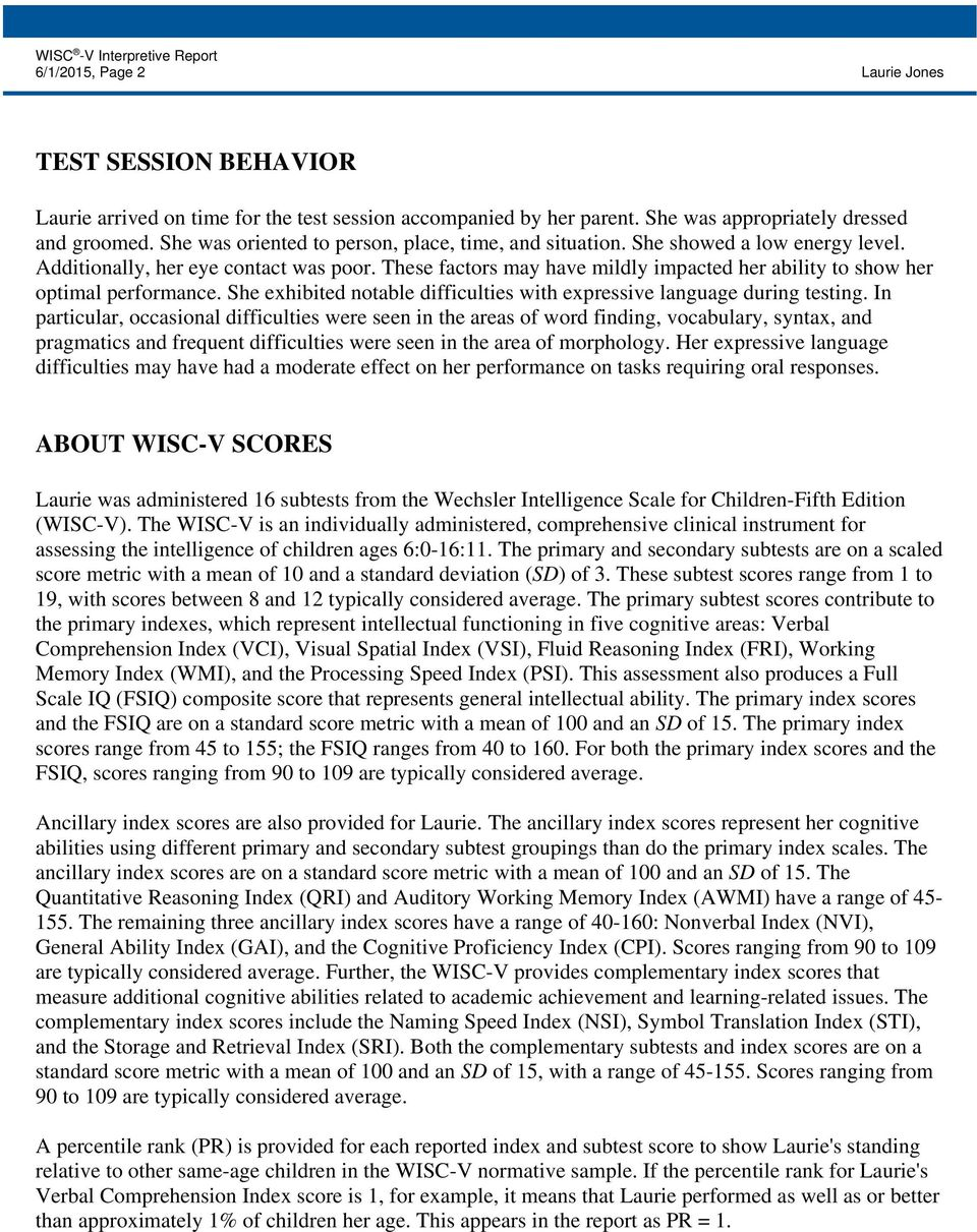 Wisc v subtests and scores » my school psychology.