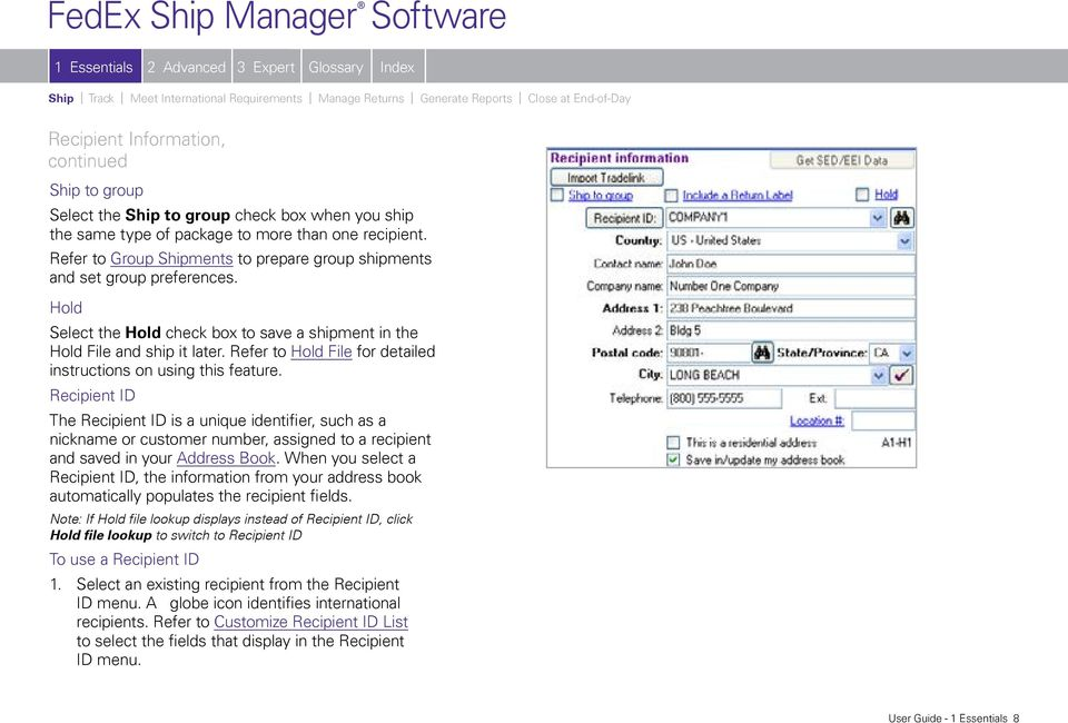 FedEx Ship Manager Software User Guide  Version PDF