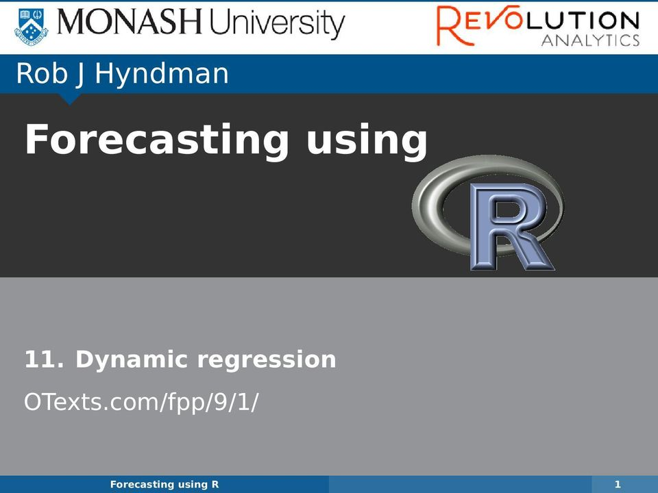 Dynamic regression