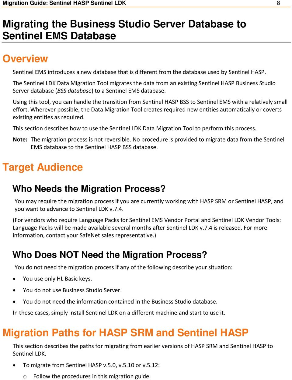 Migration Guide  Sentinel HASP to Sentinel LDK - PDF