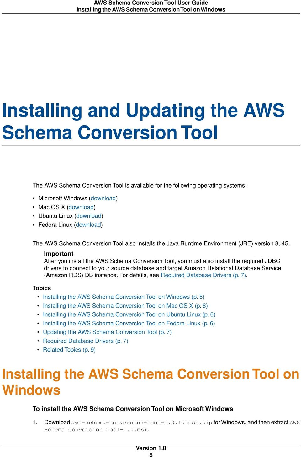 AWS Schema Conversion Tool  User Guide Version PDF