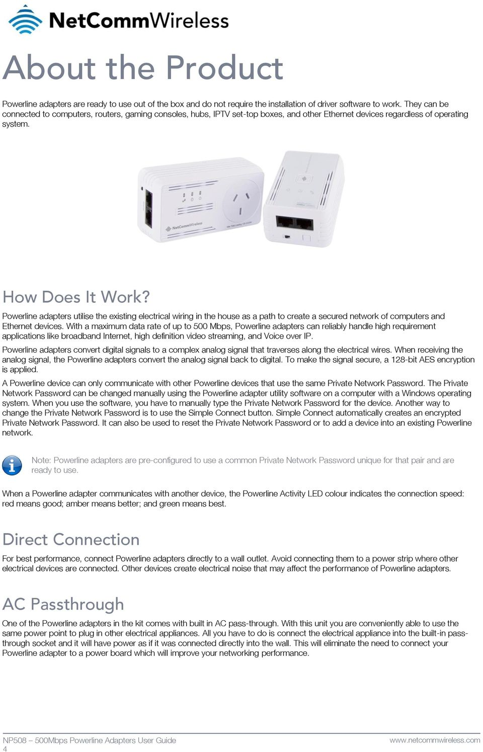 500mbps Powerline Kit With Dual Band Wifi Pdf House Wiring Internet Connection Adapters Utilise The Existing Electrical In As A Path To Create
