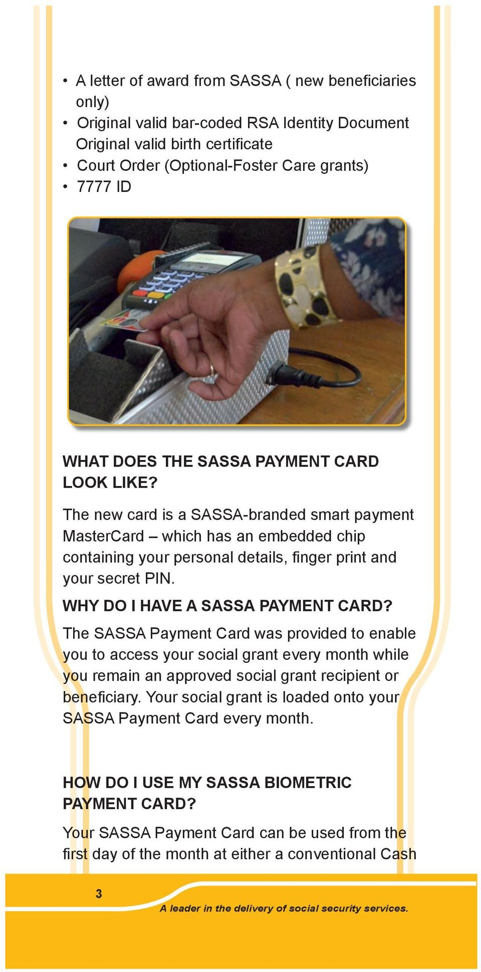 You Your New Sassa Payment Card A Leader In The Delivery Of
