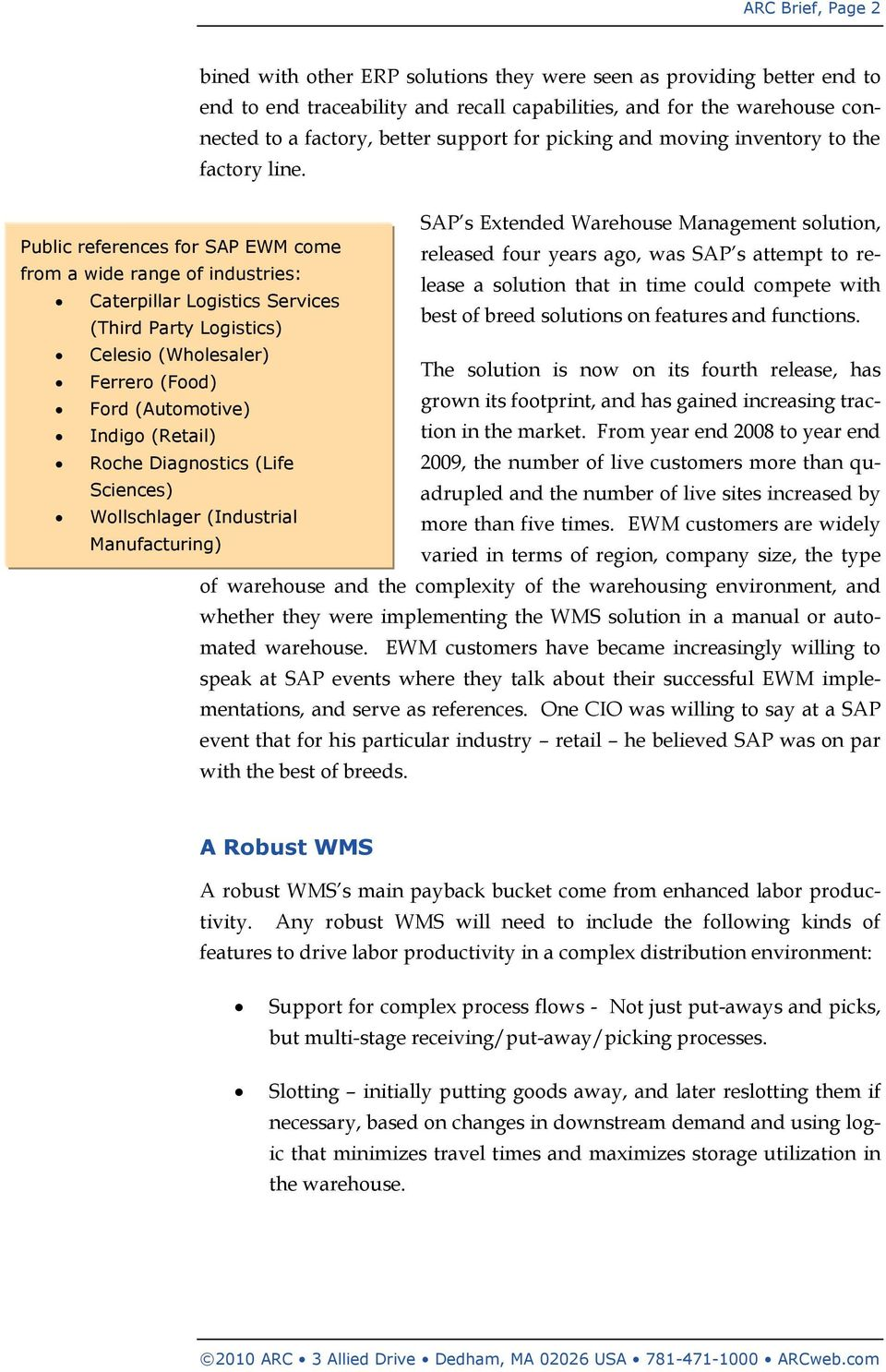 SAP EWM: A Rival to Best of Breed Solutions? Growing