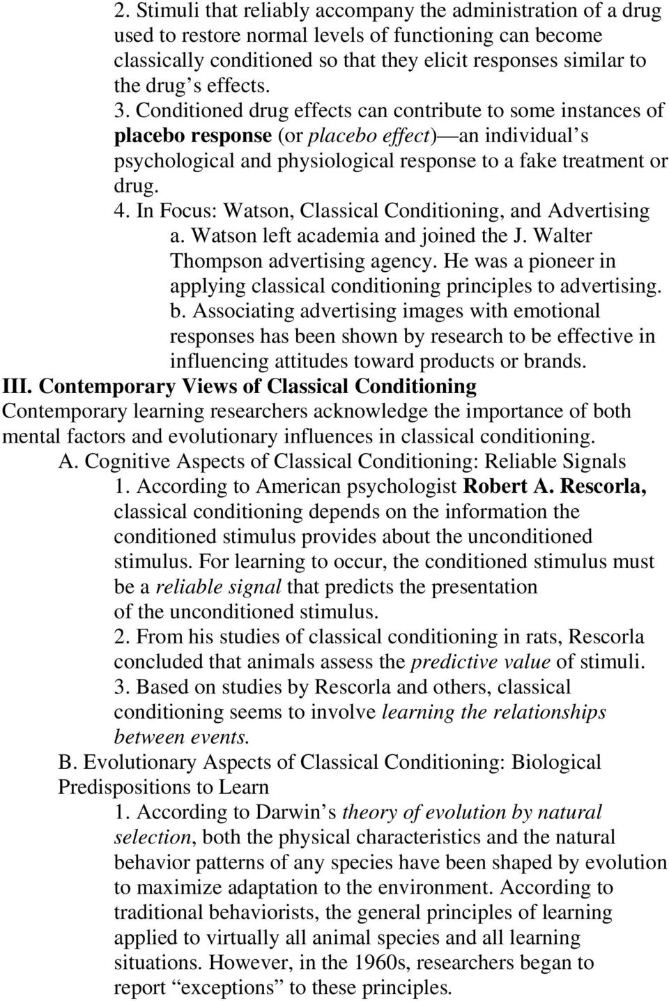 watson classical conditioning