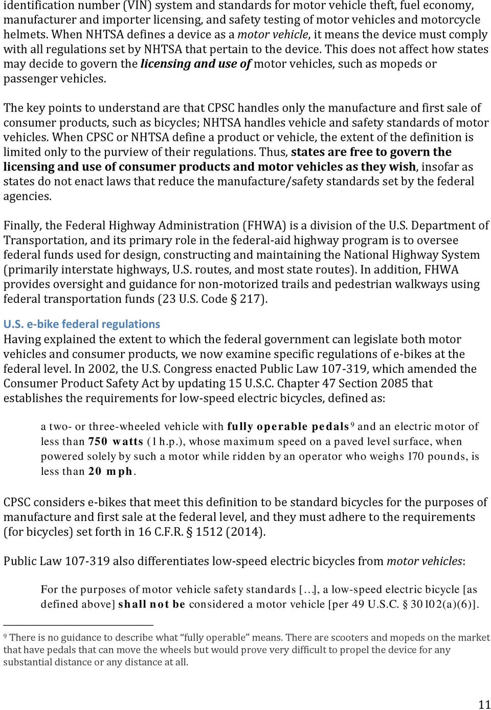 Regulations Of E Bikes In North America Pdf With An Understanding This First Requirement Electric Does Not Affect How States May Decide To Govern The Licensing And Use Motor