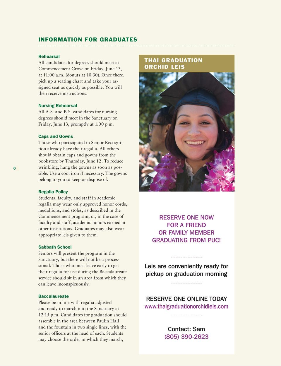 pacific union college GUIDE TO GRADUATION WEEKEND - PDF