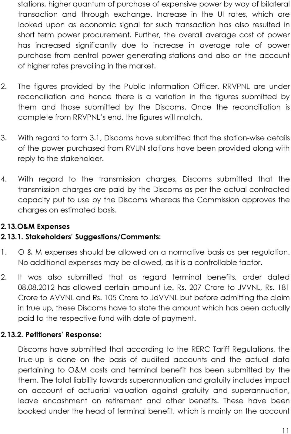 RAJASTHAN ELECTRICITY REGULATORY COMMISSION, JAIPUR Petition No