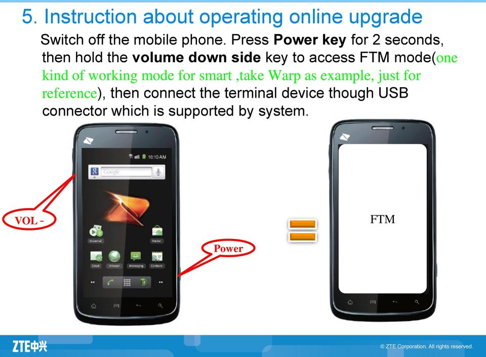 Introduction About ZTE Terminal Software Online Upgrade (only for