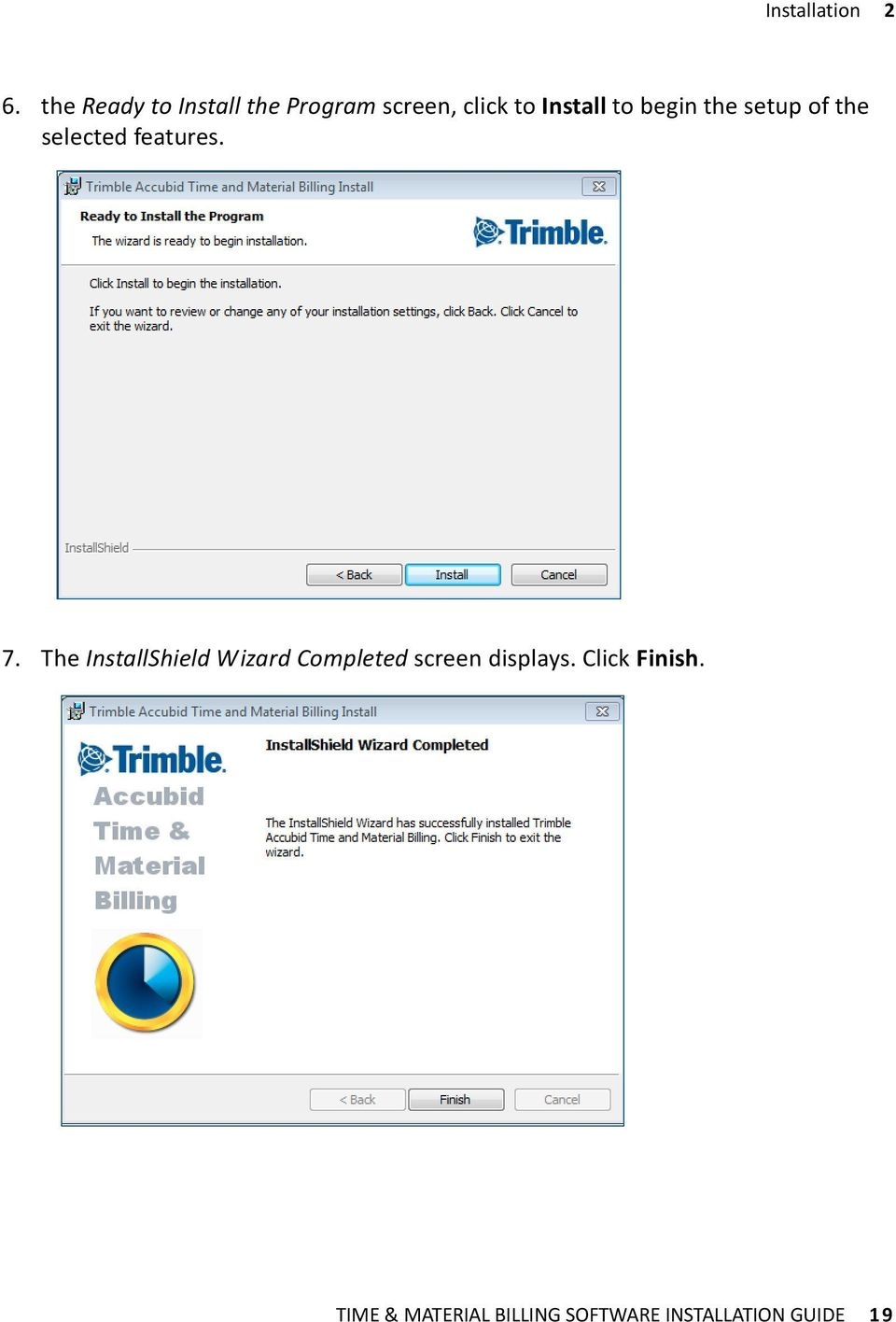 Installation Guide  Trimble Accubid Time & Material Billing