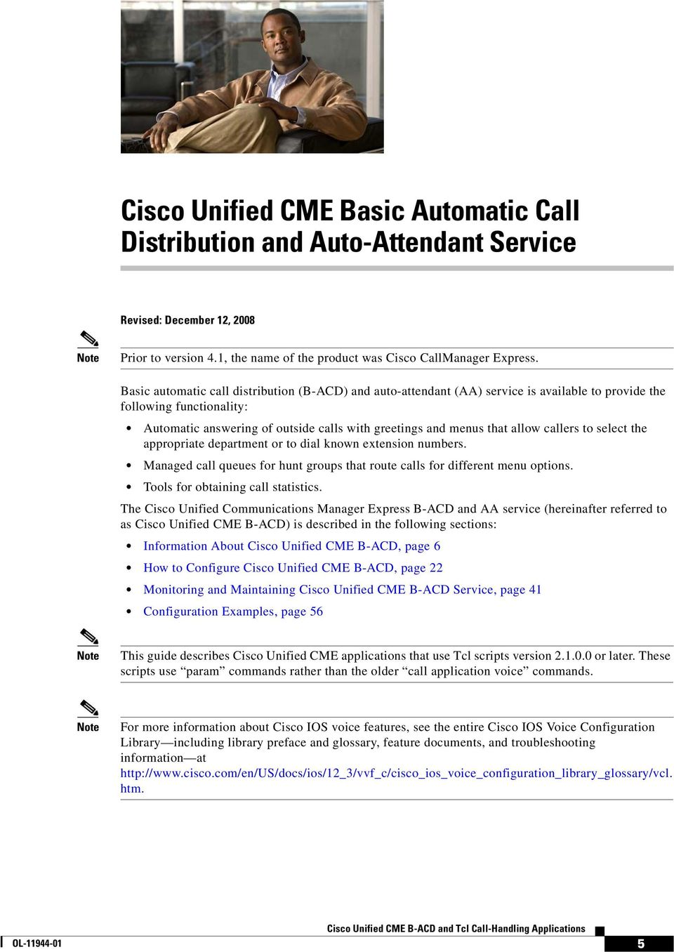 Cisco Unified CME B-ACD and Tcl Call-Handling Applications - PDF