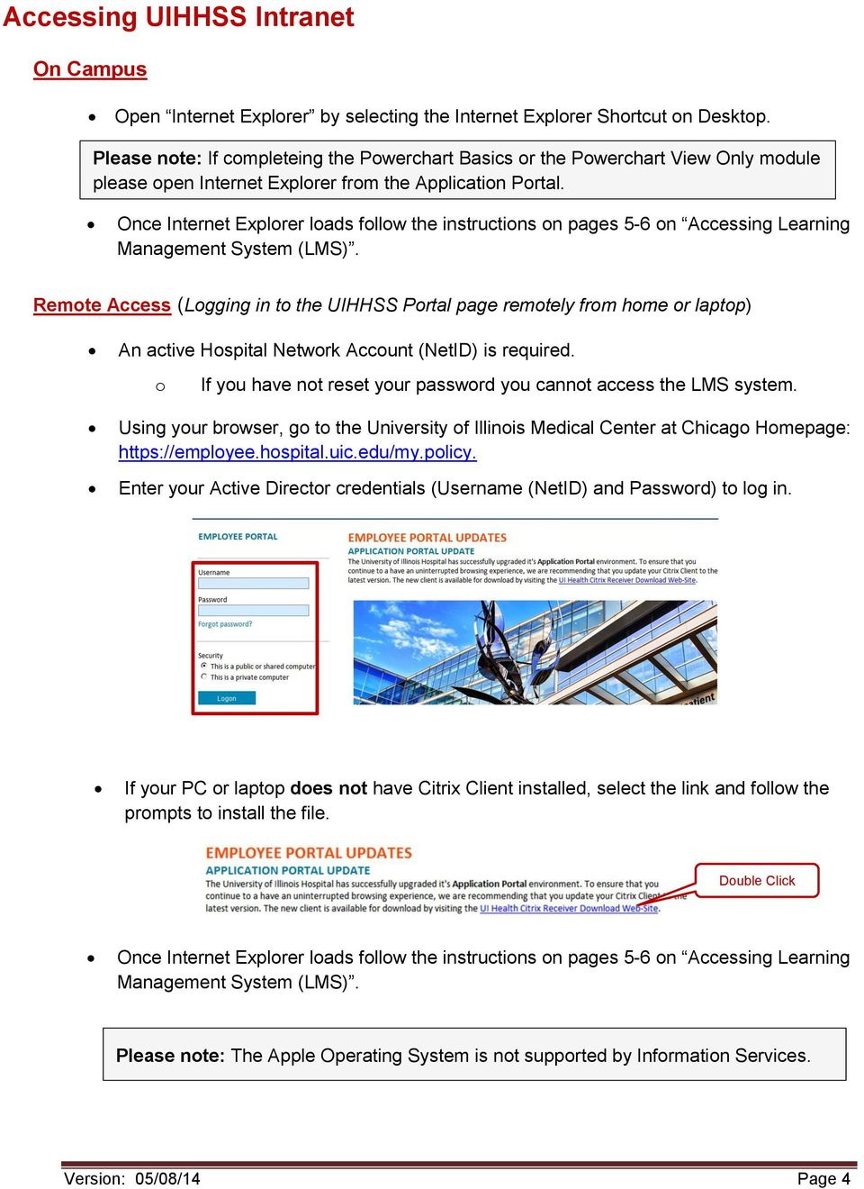 Instructions for Cerner E-Learning and Access - PDF