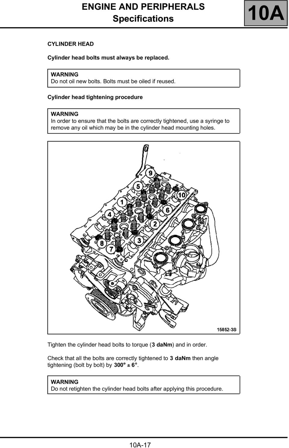 Workshop Repair Manual Pdf Audi Engine Diagram Torque Head Be In The Cylinder Mounting Holes Tighten Bolts To