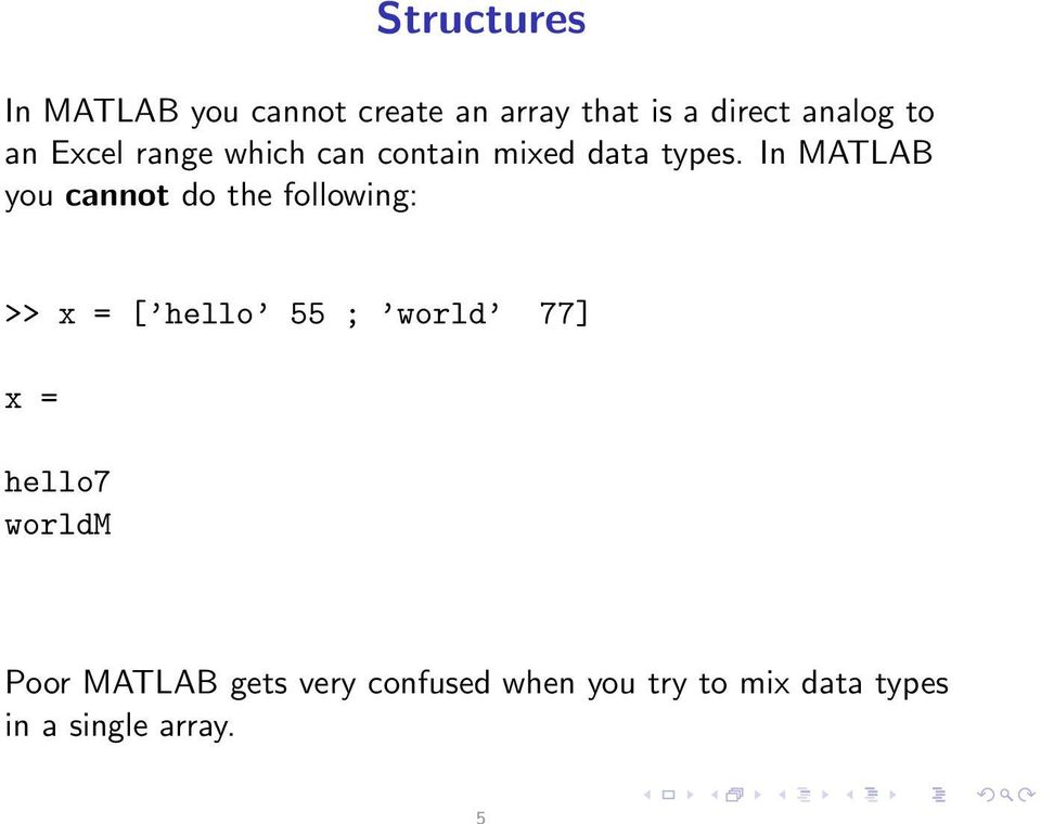 Matlab Create Array