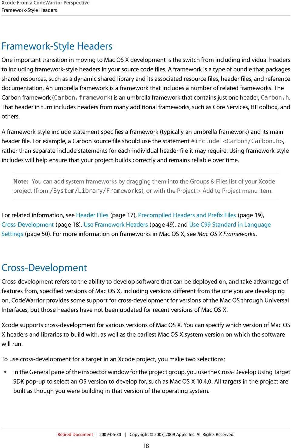 Porting CodeWarrior Projects to Xcode  (Legacy) - PDF