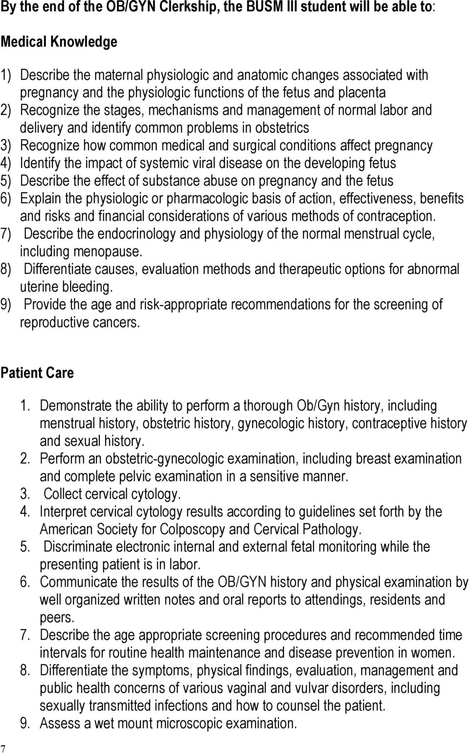 Pocket Guide MSIII Clerkship Obstetrics and Gynecology - PDF