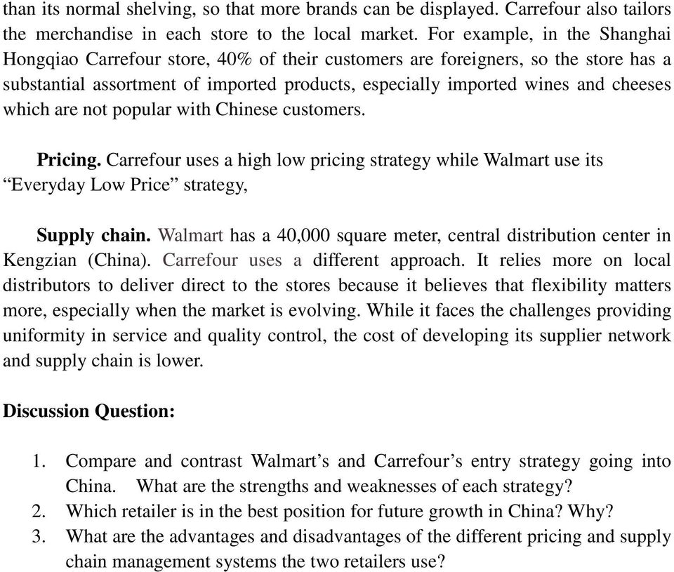 Walmart and Carrefour in China - PDF