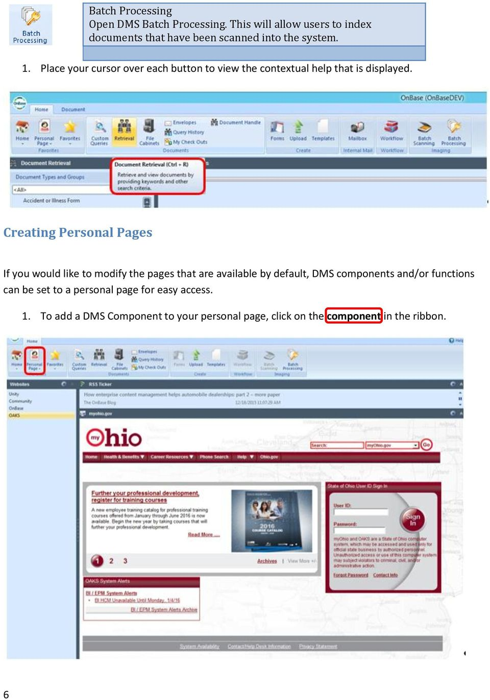 State of Ohio DMS Solution for Personnel Records Training - PDF