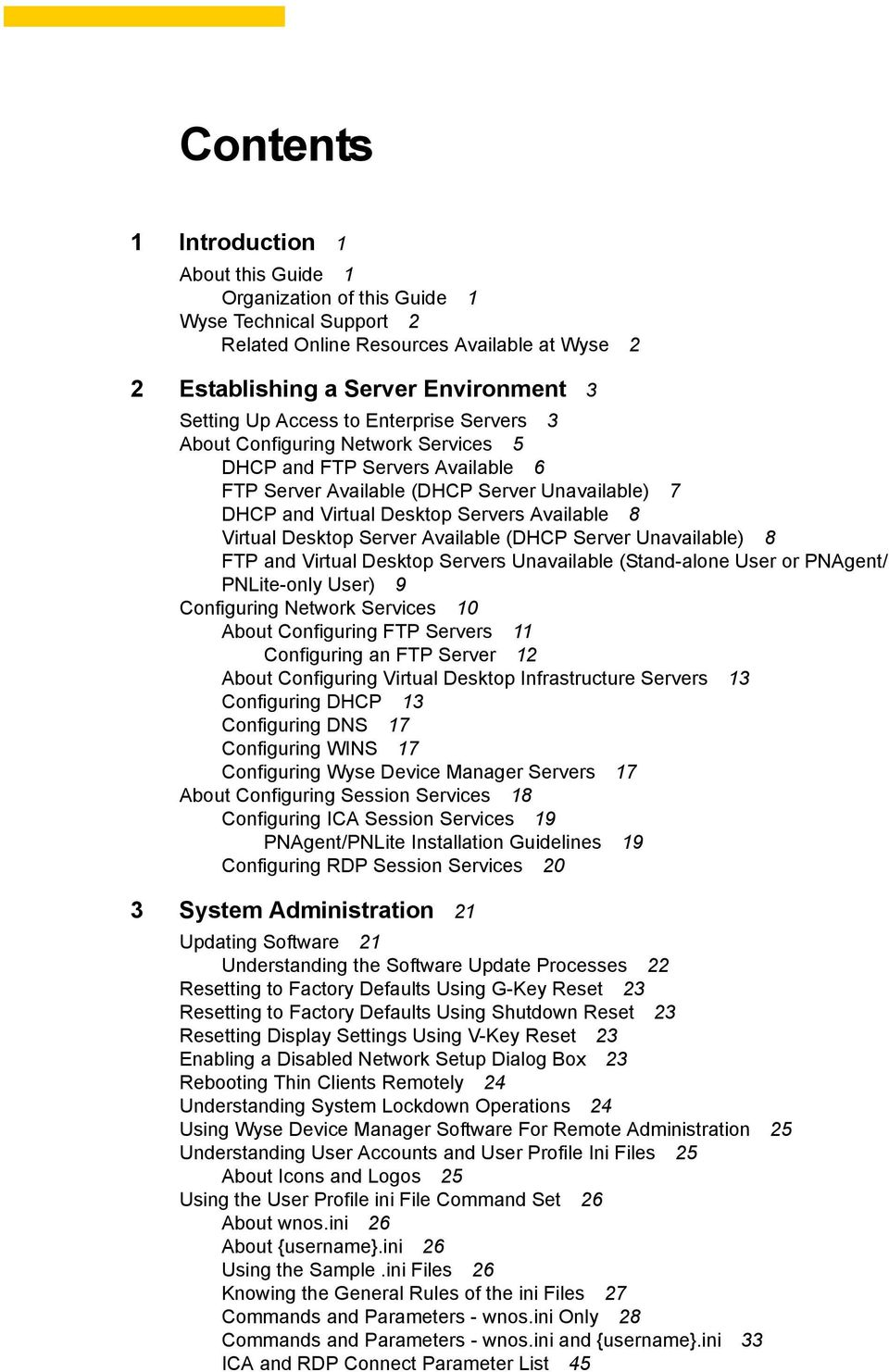 Administrators Guide  Wyse Winterm 1 series, Based on Wyse Thin OS
