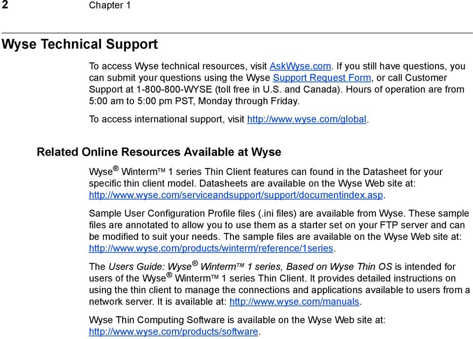 Administrators Guide  Wyse Winterm 1 series, Based on Wyse