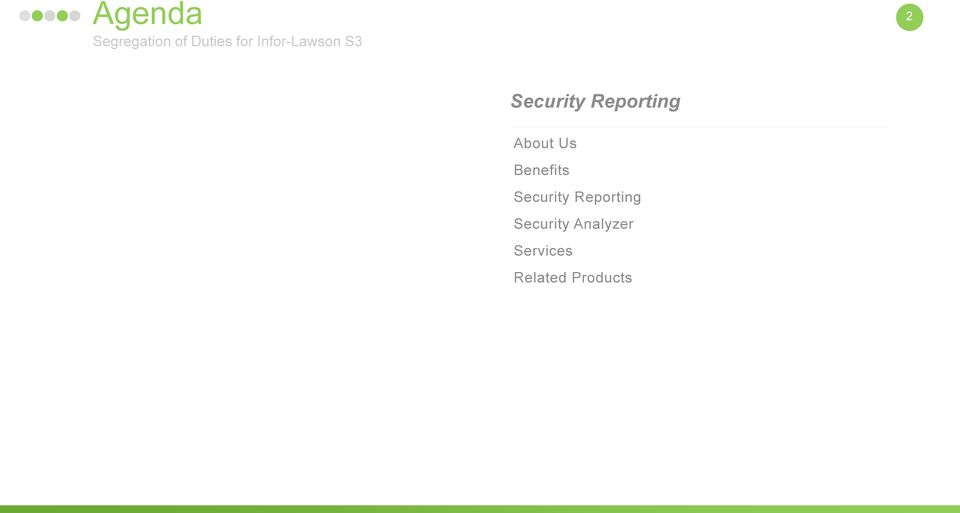 about us benefits security reporting