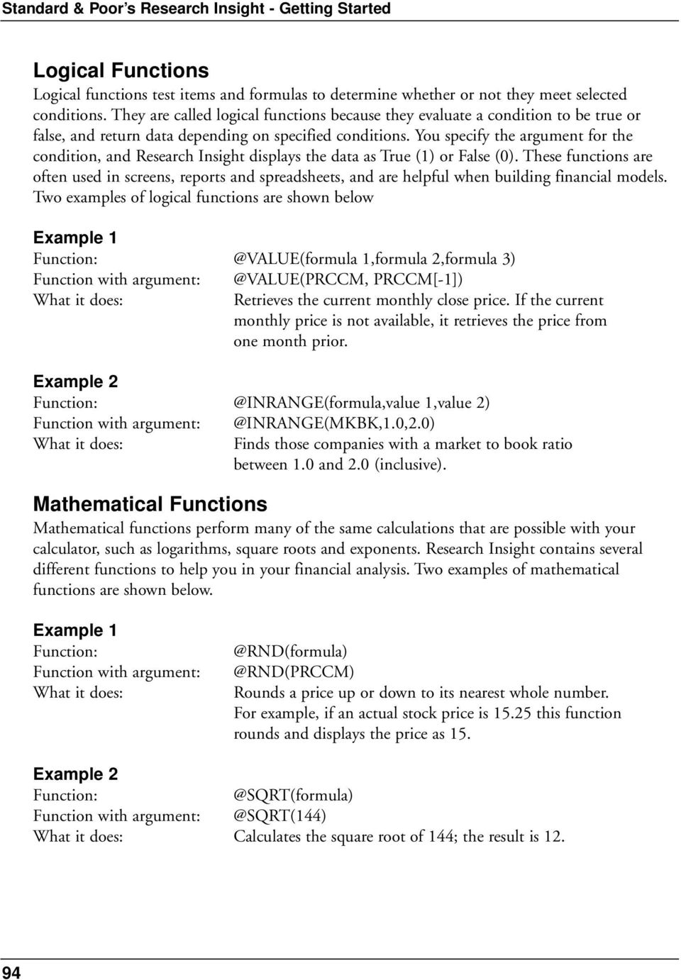 Chapter 7  Using Formulas and Functions - PDF