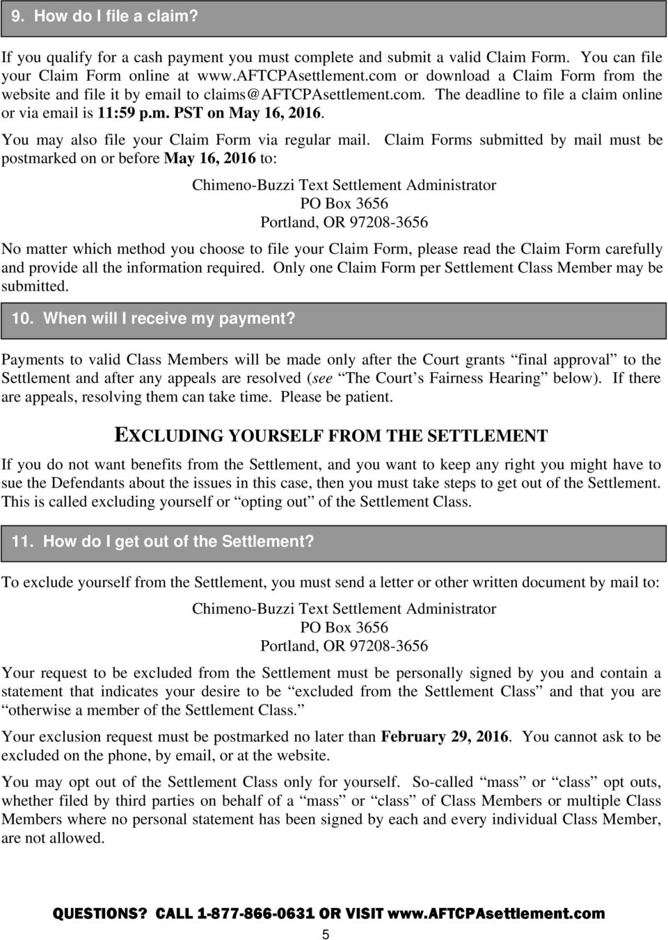 Sc Tcpa Settlement Claim Form - The Best Settlement In Word