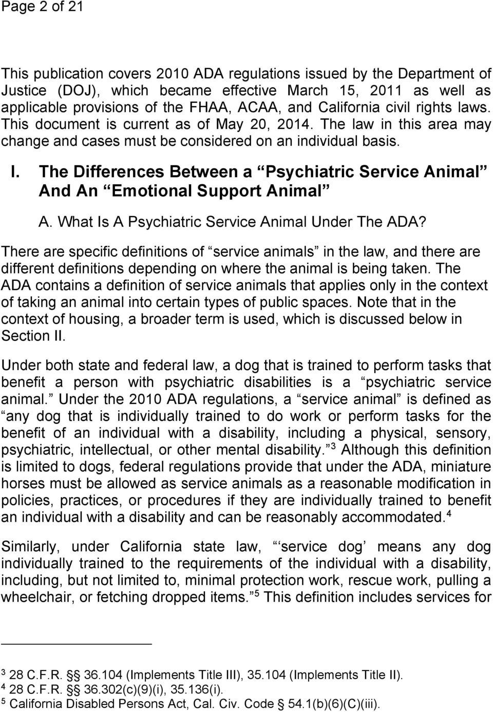 New Doj Advisory Service Animals And >> Psychiatric Service And Emotional Support Animals Pdf