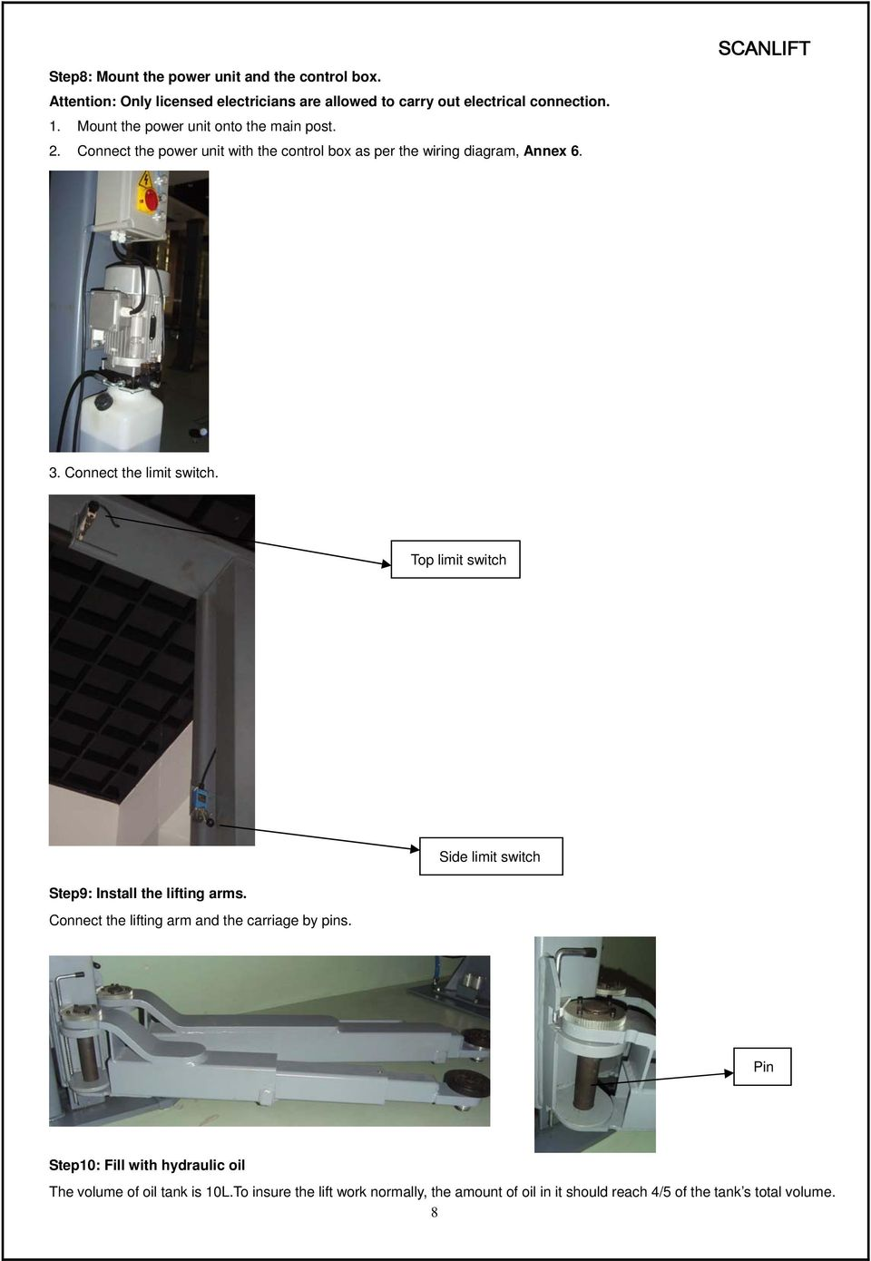 Installation Operation And Maintenance Manual Pdf Two Prong Micro Switch Wiring Diagram Connect The Limit Top Side Step9 Install Lifting