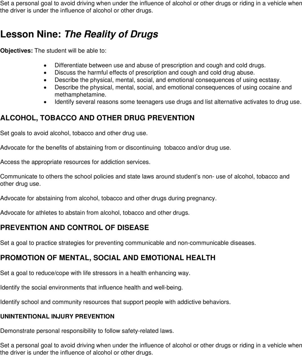 Describe the physical, mental, social, and emotional consequences of using cocaine and methamphetamine.