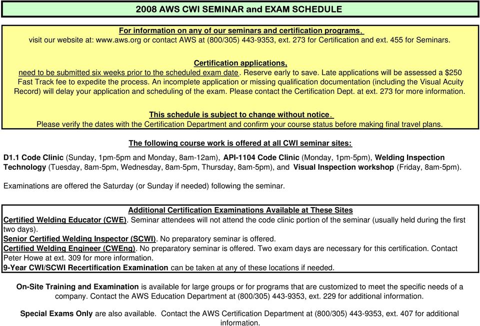Certified Welding Inspector EXAM ONLY Package - PDF