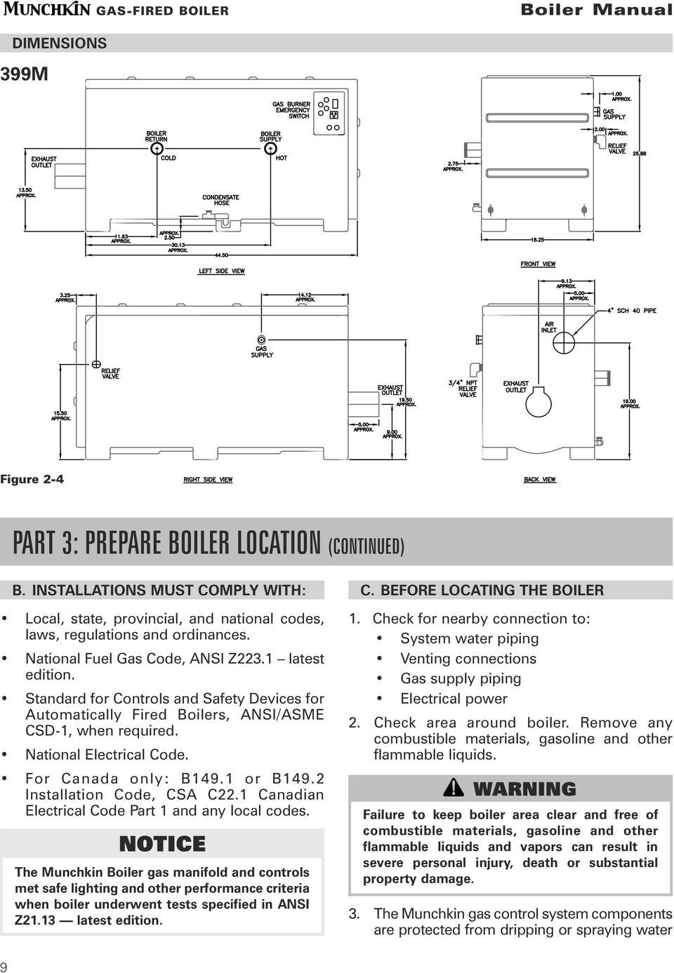 boiler manual installation startup maintenance parts warning pdf boiler control wiring for canada only b149 1 or b149 2 installation code, csa c22